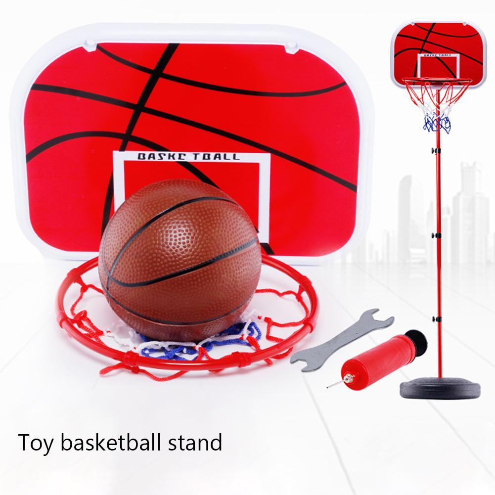 Outdoor Sport Playing Basketball Adjustable Stand Basket Holder Hoop Goal Game Mini Home Child Kid Boys Toys For Children Games