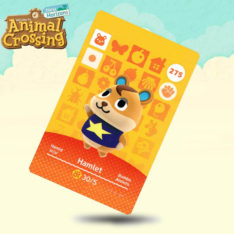 275 Hamlet Animal Crossing Card Amiibo Cards Work For Switch NS 3DS Games