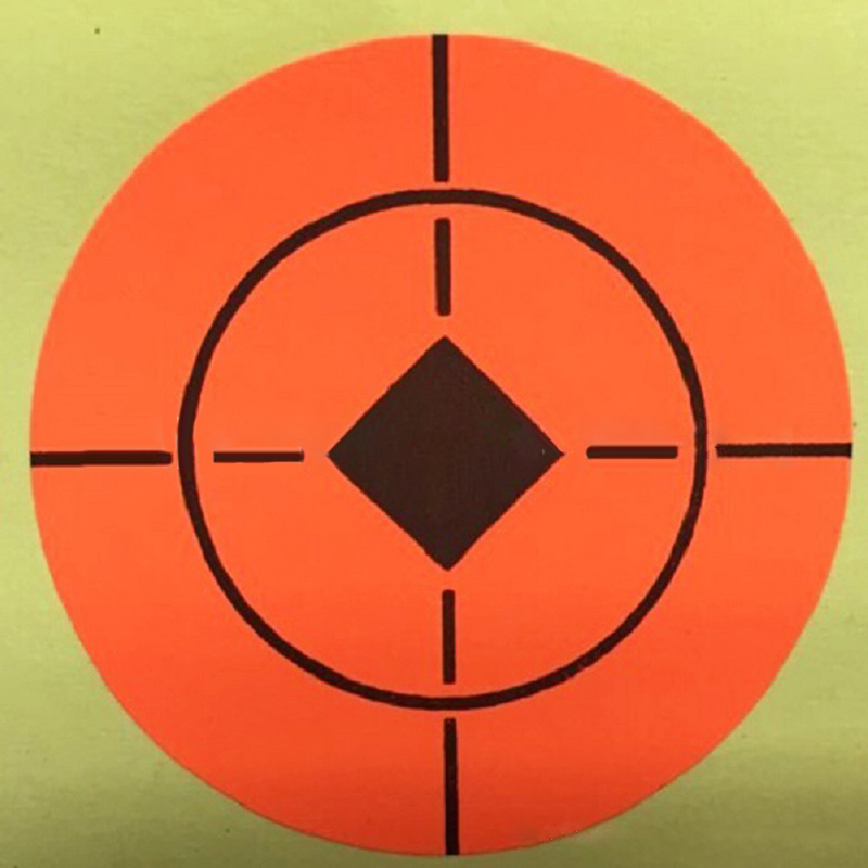 1360Pcs Orange Target Bullseye Stickers For Shooting Exercises 2.5cm Practice