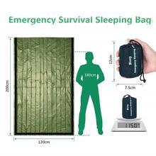 цены Emergency Sleeping Bag 120*200cm Rescue Blanket Camp Reusable Windproof Military Waterproof Safety Survival Emergency Blankets