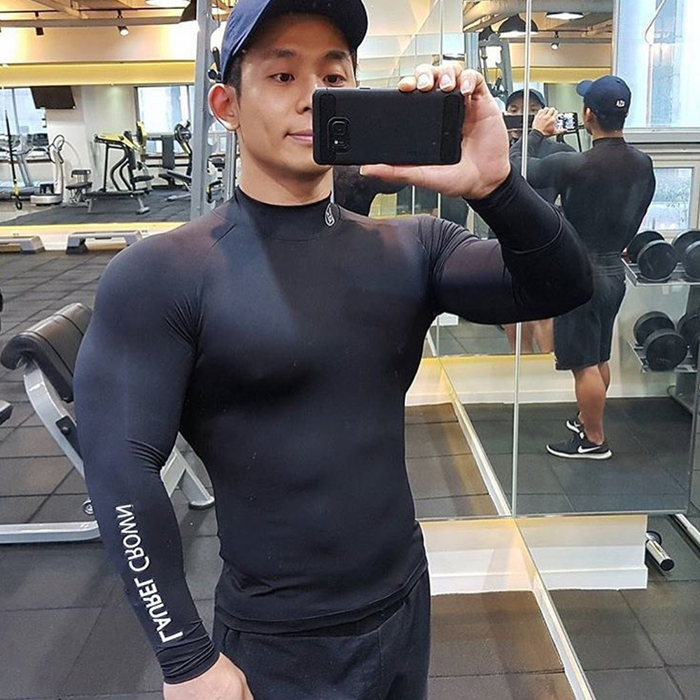 Gym Fitness Skinny T-shirt Men Compression Quick dry Long sleeve Shirt Male Running Bodybuilding Workout Tee shirt Tops Clothing