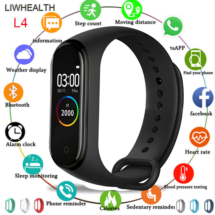 New Smart Watch Band Men/Women/Kids Smartwatch Reloj Step HR Montre Connect For Apple/Xiaomi/Huawei PK Mi Band 3/4 VS IWO 8/B57