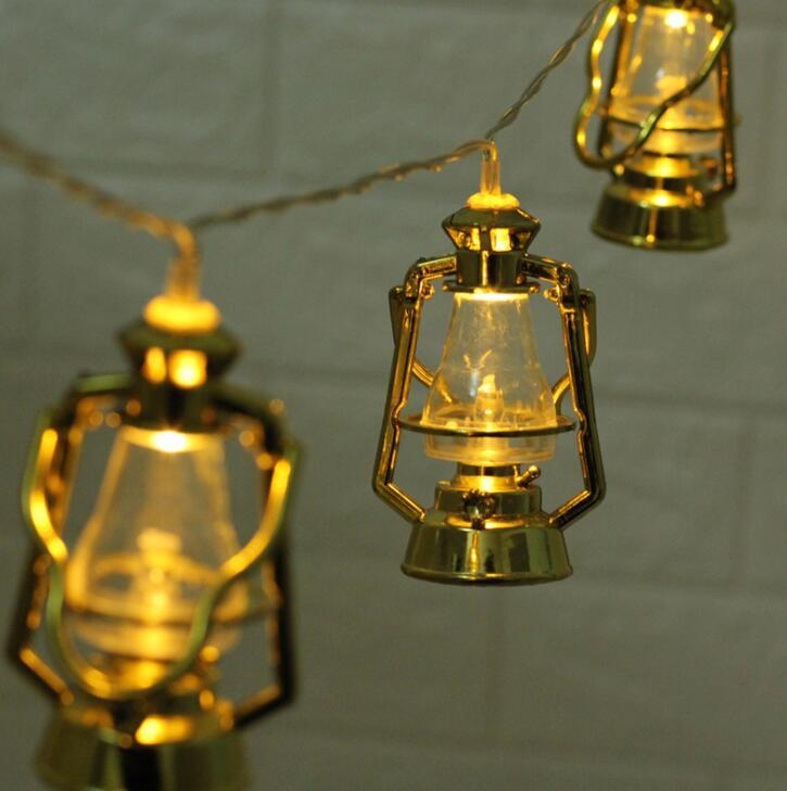 Lantern Oil Lamp Battery Box LED Decorative Color Lamp 1m 10led