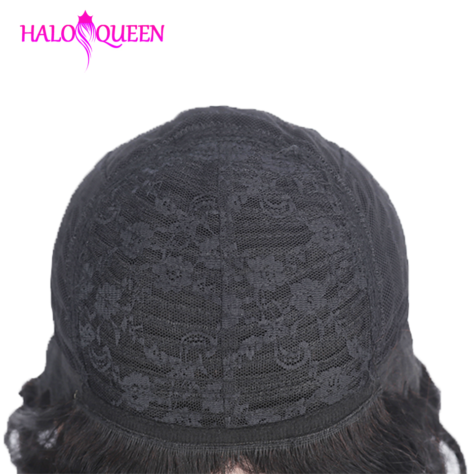HALOQUEEN Short Wigs Straight Bob Wigs Malaysia Remy Hair Human Hair Wigs For Women Natural Color Full Machine Wigs With Bang