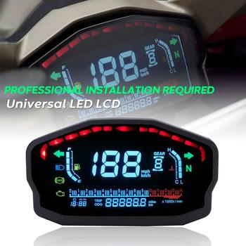 Universal Motorcycle LCD Digital Speedometer Gear Backlight Motorcycle Odometer For 2,4 Cylinders Motorcycle Meter motorcycle speedometer odometer refit atv speedometer motorcycle gear indicator speedometer for atv 150cc free shipping