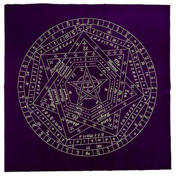 Τραπεζομάντηλο για Κάρτες Ταρώ Χαρτομαντεία Αστρολογία Μυστηριώδες Μοτίβο Σίτζιλς του Ελοχίμ Βελούδινο Ύφασμα Επιτραπέζια Παιχνίδια