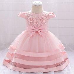Vestidos de verão para meninas, vestidos de meninas de 1 ano de aniversário, vestidos de princesa, florido, vestido de baile para tutu, roupas de festa