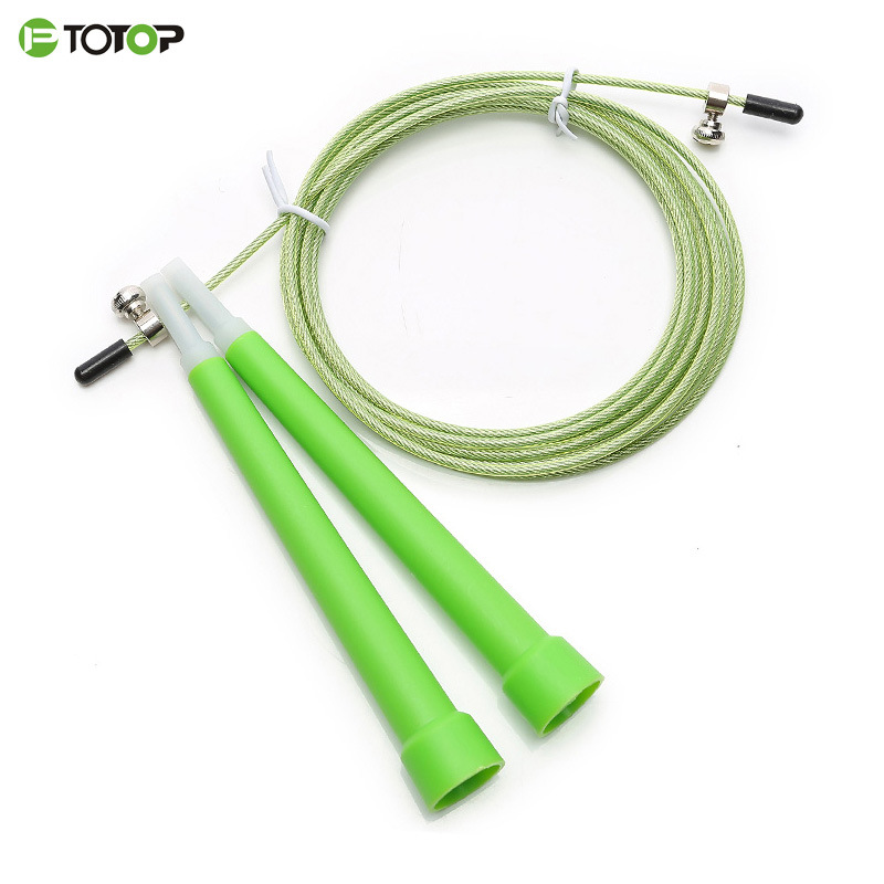 New Style Breakthrough Racing Steel Wire Jump Rope   Children Plastic PVC Handle Fast Speed Profession Sports Non-Count Tiaoshen