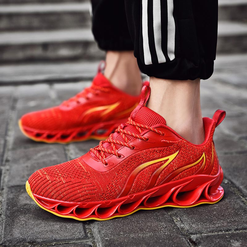 Large Size Bubble Mens Running Sneakers Mens Shoes Sports Shoes Men's Sport Shoes Tennis Men's Breathable Red Jogging Gym E-349