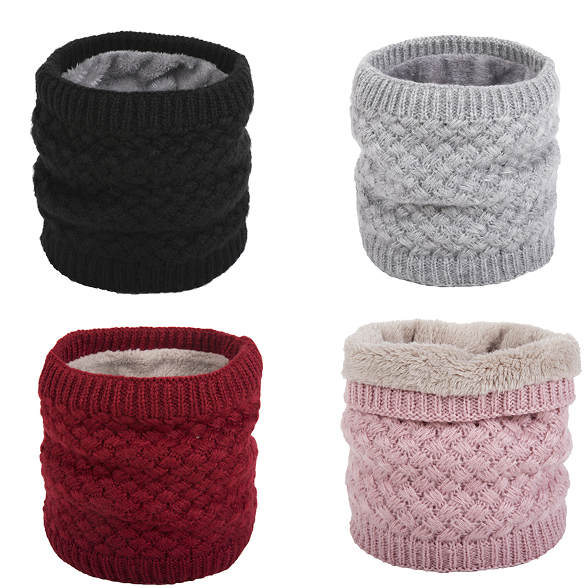 Winter Scarf Fashion 2019 Autumn Warm Knit Round Neck  Print Rings Shawl Children Girl Head Scarf  For Men Women Outdoor