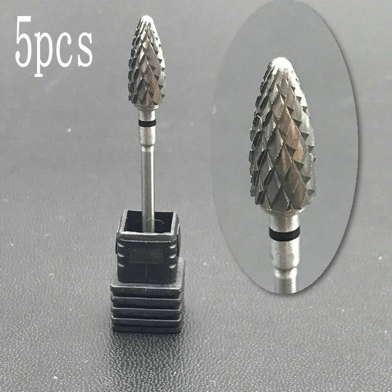 5pcs Carbide Nail Drill Bit&Dental Burs High Quality Medical Grade-Cross Cut - Super Coarse- Tungsten Carbide Burs