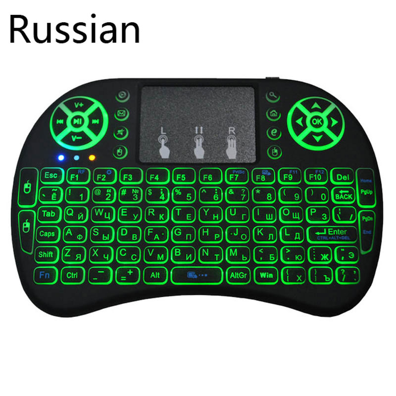 Mini keyboard with 3 backlits and multi-languages  2 4Ghz wireless keyboard for Android smart TV and Windows computer