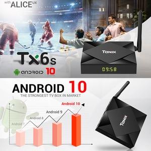 Image 5 - Tanix tv box TX6S Max reprodutor de mídia, Allwinner J616 Android 10.0, 4GB de ram e 64GB de rom, quadcore wi fi duplo TX6, Youtube