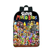 Mini 12 Cal Super Mario plecak dla dzieci torby piękny wzór dla dzieci plecak dla dzieci przedszkole codziennie praktyczność plecak tanie tanio NYLON Miękki uchwyt Unisex Tłoczenie Miękka NONE Łukowaty pasek na ramię Na co dzień 12 inch zipper Poniżej 20 litr