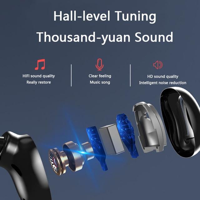 S11 3500mAh LED Bluetooth Wireless Headphones Earphones Earbuds TWS Touch Control Sport Headset Noise Cancel Earphone HIFI Sound 6