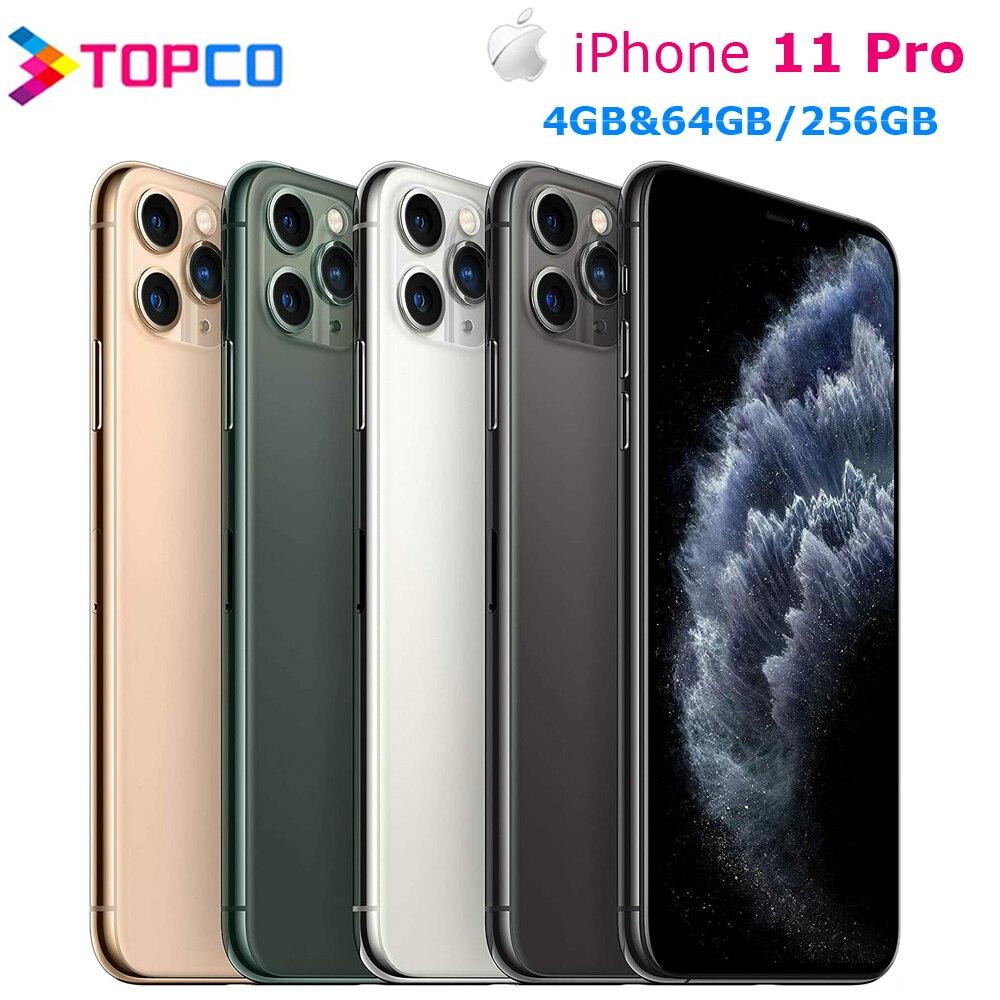 هاتف Apple iPhone 11 Pro الأصلي الأصلي بشاشة 5.8 بوصة وذاكرة وصول عشوائي 4 جيجابايت وذاكرة قراءة فقط 4 جيجابايت وذاكرة قراءة فقط 64/256/512 جيجابايت وذاكرة ق...