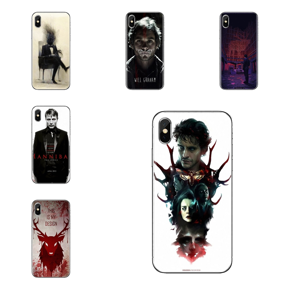 Graham hannibal mads eat the rude Silicone Phone Cover Bag For iPod Touch Apple iPhone 4 4S 5 5S SE 5C 6 6S 7 8 X XR XS Plus MAX