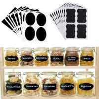 36 Uds. Pegatinas impermeables de pizarra para cocina, etiquetas para especias, tarros de mermelada, etiquetas de botella, etiquetas de pizarra, suministros de oficina