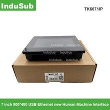Tk6071ip hmi tela de toque 7 polegada 800*480 usb ethernet nova relação da máquina humana