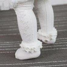 0-3Y miękkie bawełniane rajstopy dziecięce noworodka śliczne koronkowe rajstopy dziecięce zimowe jesienne ubrania księżniczka dziewczyny pończochy rajstopy rajstopy
