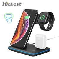 15W 3 W 1 bezprzewodowe ładowanie ładowarka dla iPhone zegarek Airpods indukcyjna ładowarka 3w1 dla iPhone X XR 8 Plus Apple Watch 4 3 2 1