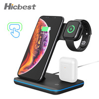 15W 3 in 1 Wireless Charging Charger for iPhone Watch Airpods Induction Charger 3in1 for iPhone X XR 8 Plus Apple Watch 4 3 2 1