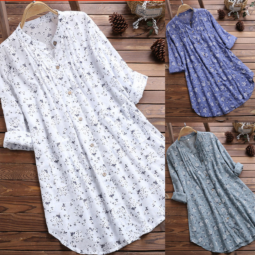 Women Loose Long Sleeve Tunic Tops Casual Blouses Plus Size M-3XL Shirt Summer Elegant Blouse Streetwear Fashion New 1