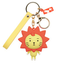 Cartoon Panda lion Key chain Animal Silicone Girl Bag Accessories Mens and Womens Car Childrens Toy