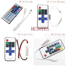 RGB LED Strip MINI Controller dimmer IR อินฟราเรดรีโมทคอนโทรลไร้สาย RF 44 24 17 RGB KEY