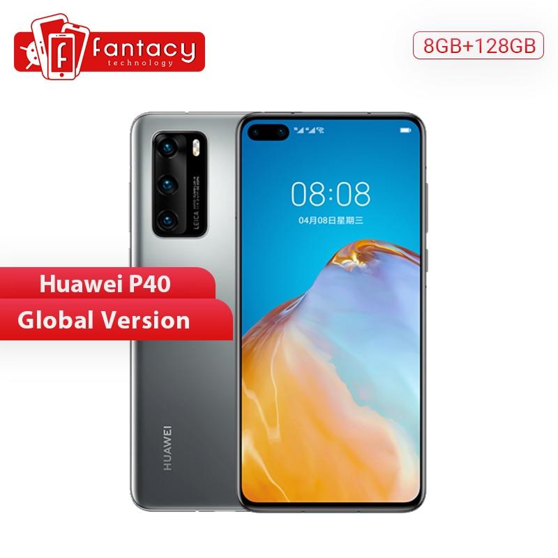 Global Version Huawei P40 5G Smartphone Kirin 990 8GB 128GB 50MP Ultra Version Camera 6.1 Inch SuperCharge NFC