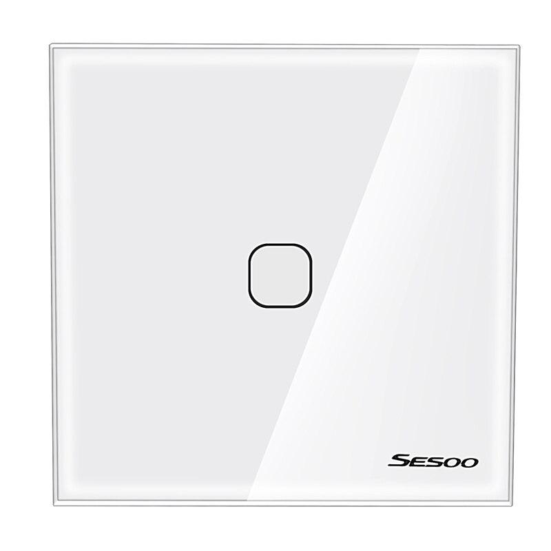 Sesoo Press Switch Single Fire Line Lighting Wall Switch Smart Home Light Press Control Switch One Button