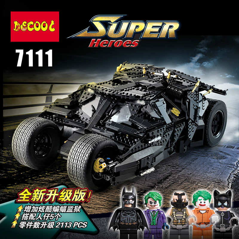 2019 Decool 7111 The Tumbler Prison For Lepining Batman Building Blocks Toys Gifts Bricks 76023 Super Heroes Armored Chariot