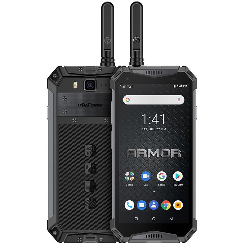 Ulefone Armor 3WT 10300mAh NFC Walkie-Talkie shockproof   Mobile Phone 6GB 64GB 21MP Octa Core Android 9.0 4G Rugged Smarphone