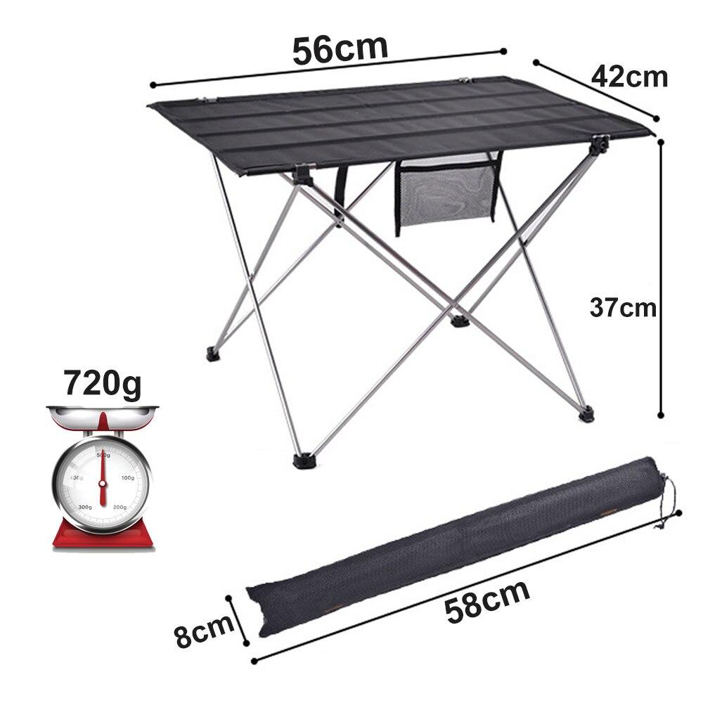 Портативный складной стол для кемпинга, дома, барбекю, пикника, ульсветильник походный стол из алюминиевого сплава, складной стол для рыбал...