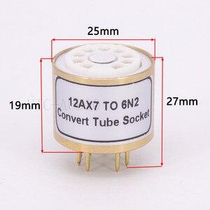 Image 4 - 1Pc 12AX7 ECC83 Top Te 6N2 Bodem 9Pins Naar 9Pins Buis Diy Audio Vacuümbuis Adapter Socket converter Versterker Hifi