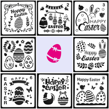 Bullet Journal Stencils Painting-Template Easter Happy-Easter-Skeleton Reusable Decorative