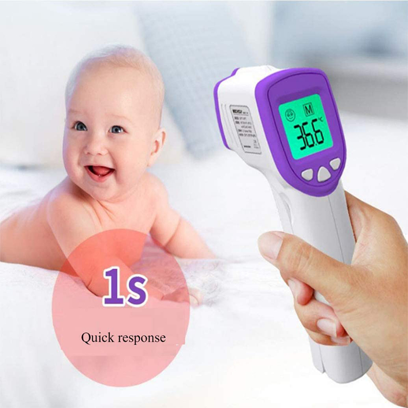 Baby Infrared Forehead Body Thermometer Baby Adult Digital Thermometer Gun Non-contact Body Temperature Measurement Meter 3