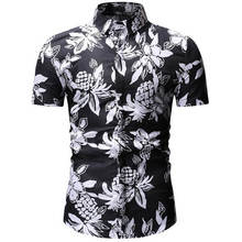 Mens Summer Beach Hawaiian Shirt 2020 Brand Short Sleeve Plus Size Floral Shirts Men Casual  Clothing Camisas 26 color