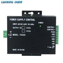 Mini porta da fonte de alimentação rfid impressão digital controle acesso fornecedor adaptador sistema covertor máquina dc 12 v 3a 5a ac 100 ~ 260 v