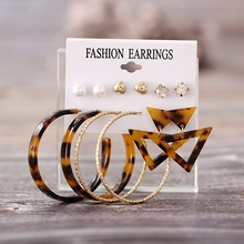 Trency Acrylic Crystal Earrings For Women Bohemian Korean Pearl Stud Set 2019 Brincos Jewelry