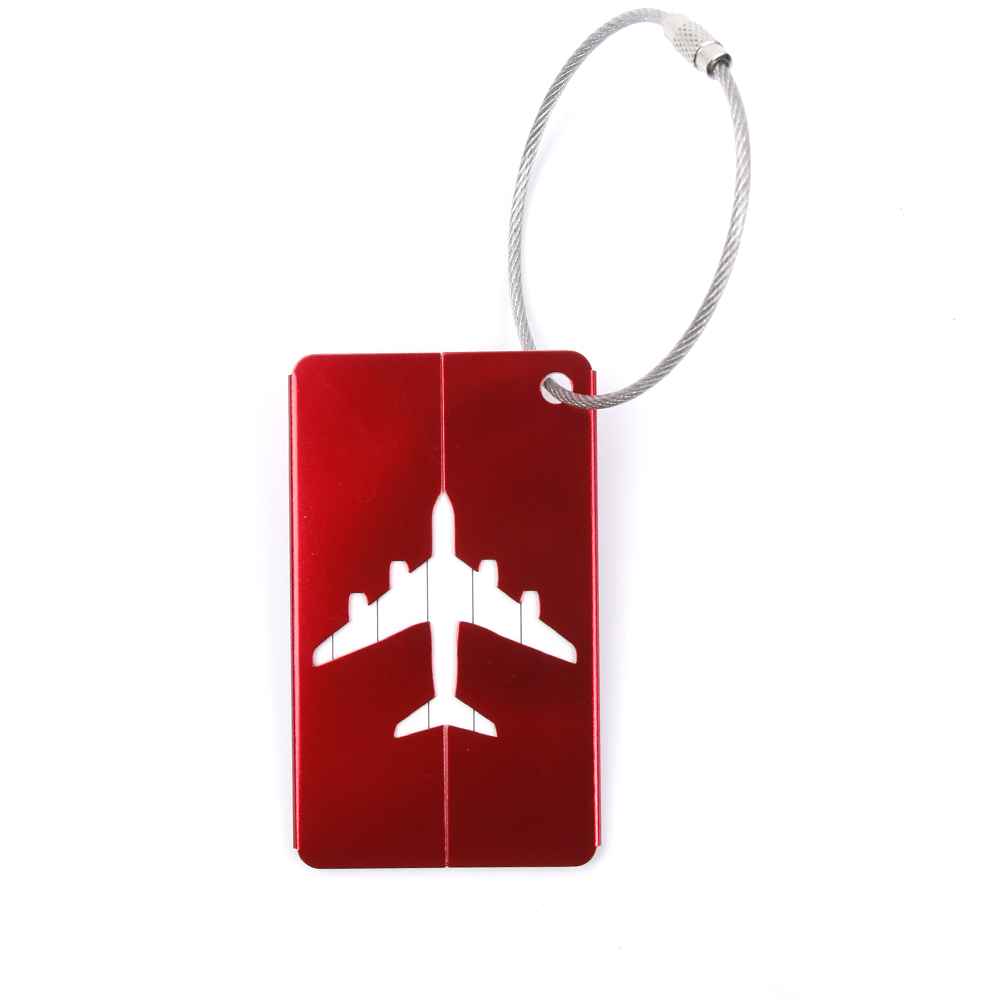 Aluminium Alloy Luggage Tags Baggage Name Tags Suitcase Address Label Holder Travel Accessories drop shipping