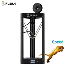 FLSUN QQ-S 3D Printer Kossel Auto-leveling Heat bed  Filament Pre-assembly Titan extruder 32 bits motherboard цены