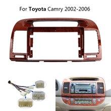 9 Inch 2 Din Auto Radio Dash Fascia Für Toyota Camry 5 2002 2006 Auto Stereo Panel Montage CD DVD Kopf Einheit Rahmen Kit + Harness