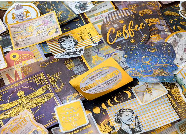 renaissance ouro diário planejador decorativo móvel adesivos