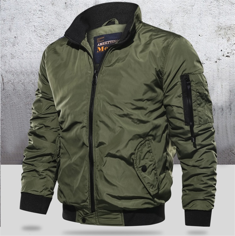 Button JACKET COAT Men Winter Warm Bomber Army Fly Pilot Military Tracksuit Sweatshirt Male 2019 Cardigan Multi Mens Size S-5XL(China)