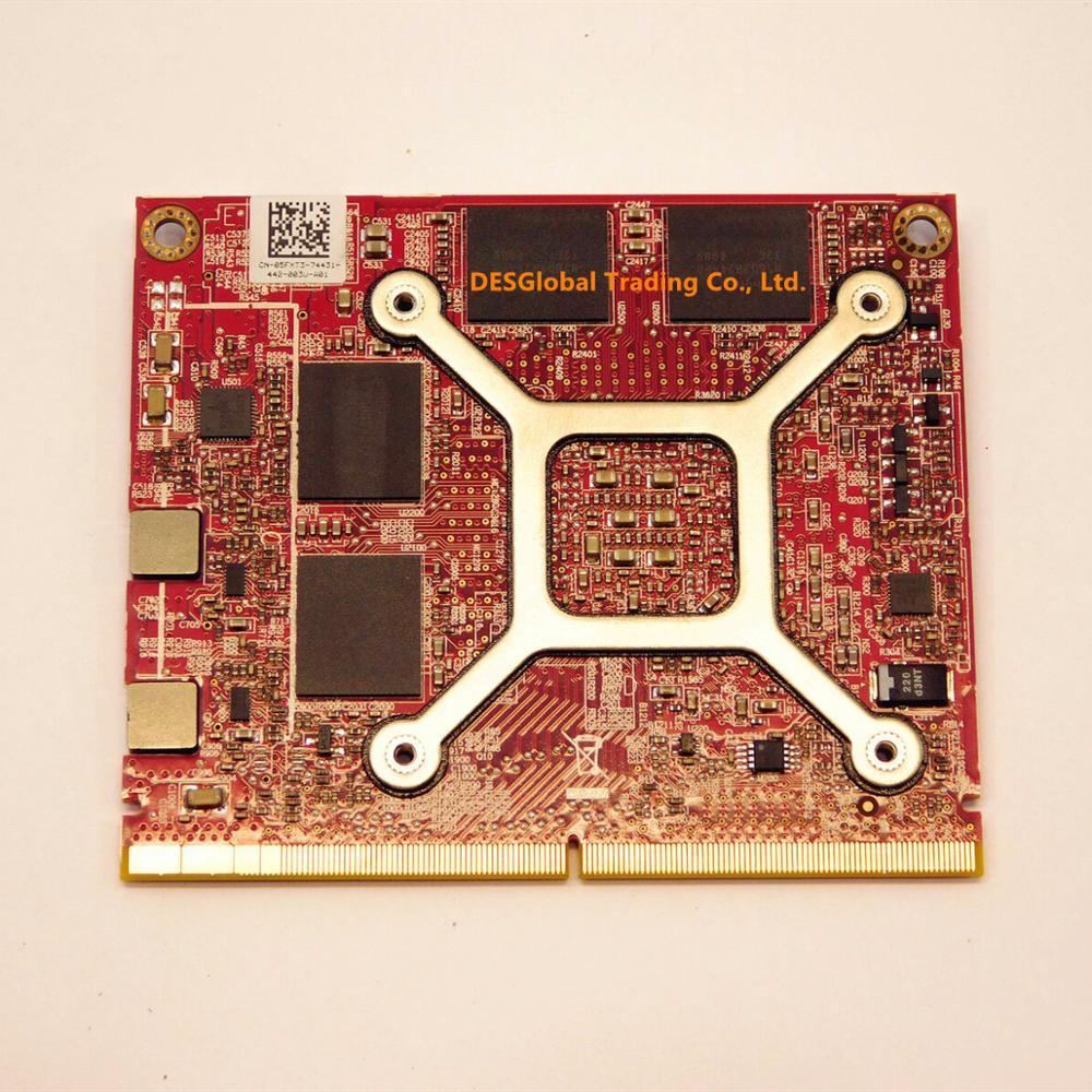 Оригинал Firepro M5100 2 Гб MXM GPU видео VGA Видеокарта DDR5 216-0846000 CN-05FXT3 для ноутбука DELL M4600 M4700 M4800