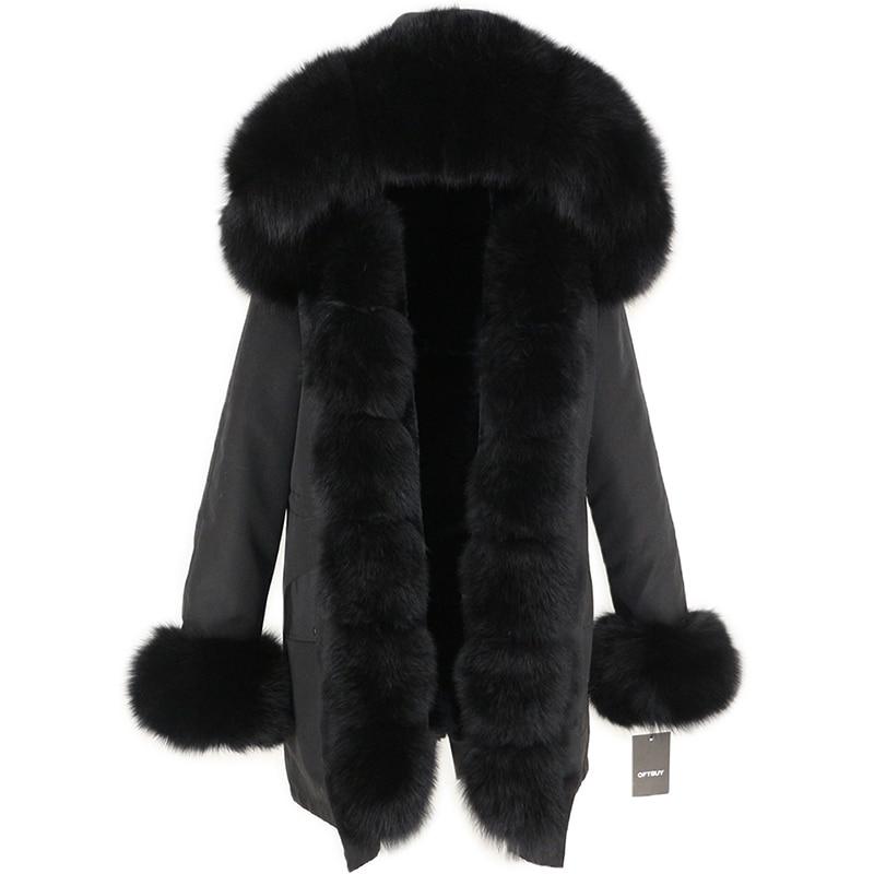 OFTBUY Waterproof Long Parka Winter Jacket Women Real Fur Coat Natural Fox Fur Collar Hood Thick Warm Streetwear Detachable New 5