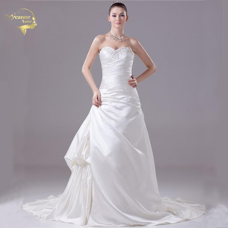 2020 New Arrival Fashion Vintage Wedding Dresses Bruidsjurken Satin Bridal Dresses Plus Size Robe De Mariage Fast Free Shipping