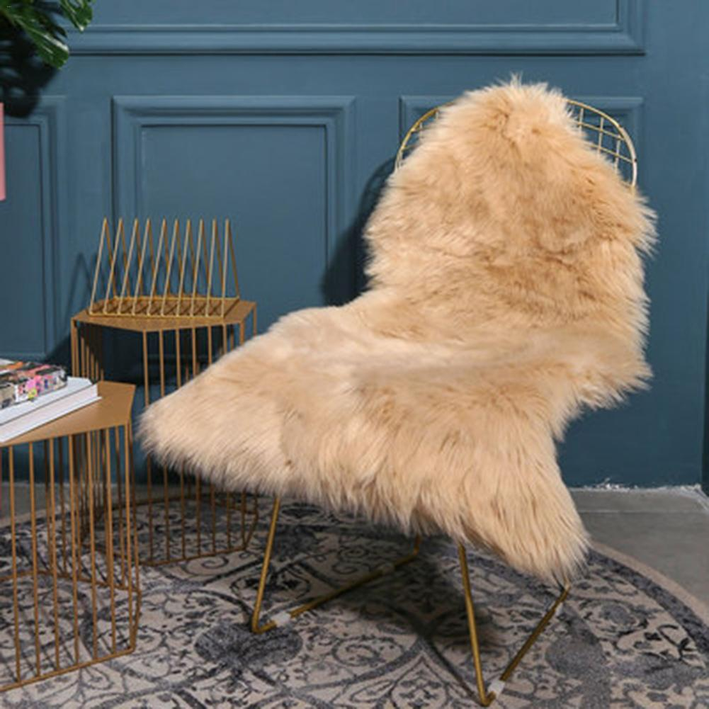 Soft Faux Sheepskin Fur Chair Couch Area Rug for Bedroom Floor Sofa Living Room