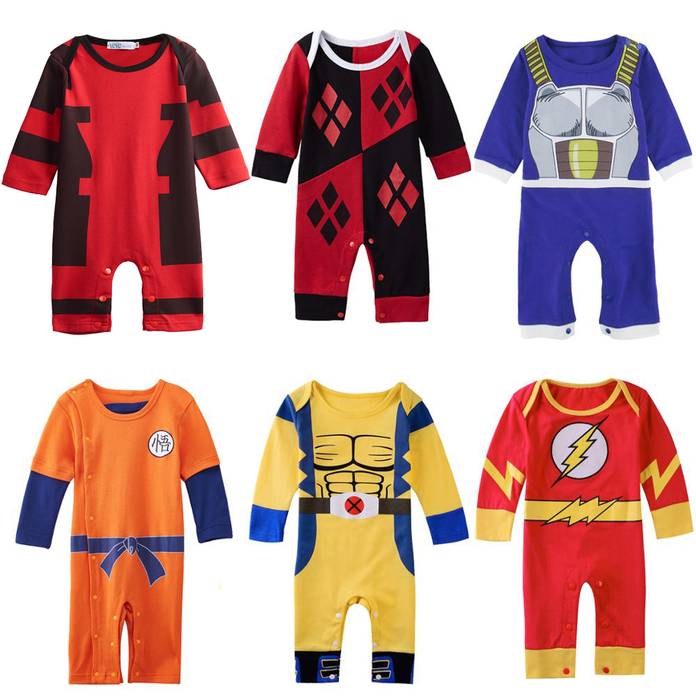 Baby Girl Harley Quinn Romper Newborn Jumpsuit Infant Winter Costume Playsuit